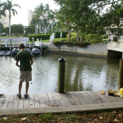 Fishing in the Cocohatchee River Park Florida