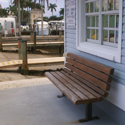 Bench at The Ship Store in Cocohatchee River Park