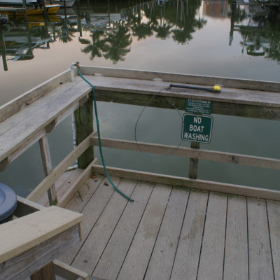 Fish Cleaning Station at The Ship Store in Cocohatchee River Park