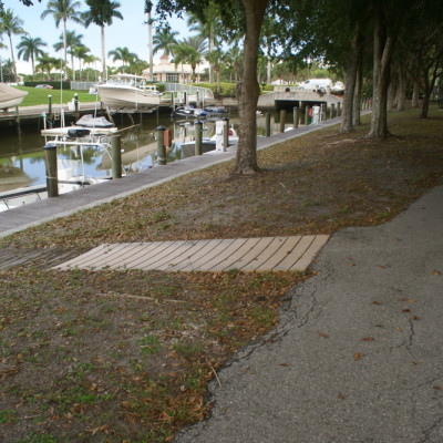 Wheelchair Access at Playground in Cocohatchee River Park near The Ship Store